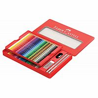 48 Colored Pencil & Sketching Set in Tin