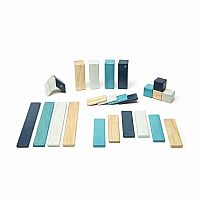 24 Piece Tegu Block Set - Blues