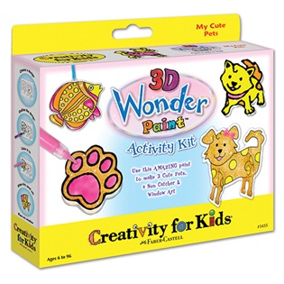3D Wonder Paint Activity Kit My Cute Pets