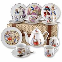 Beatrix Potter Large Tea Set in Basket