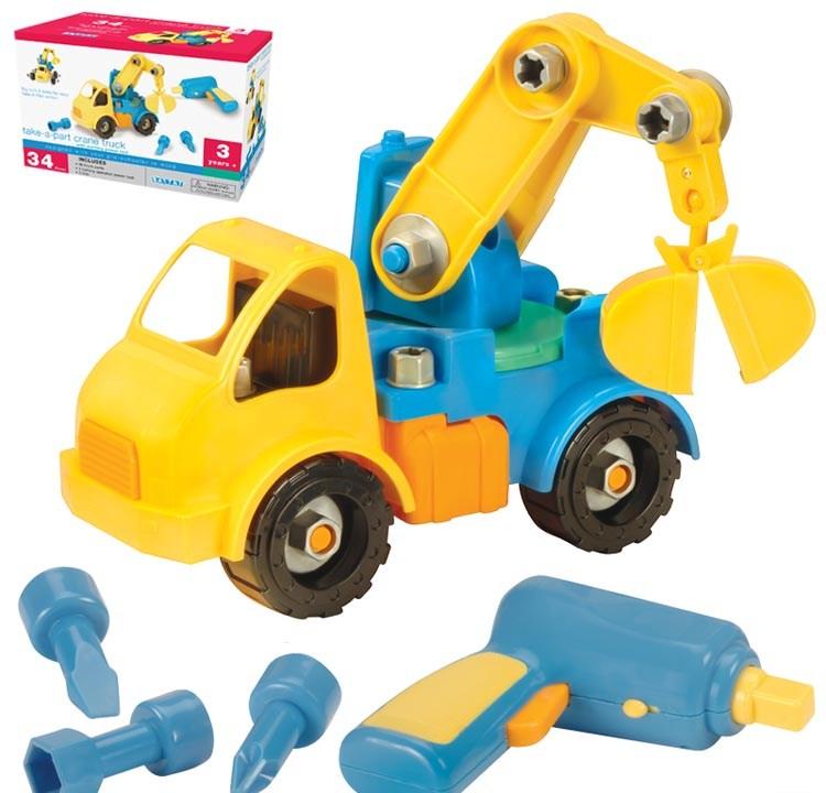 Toys For Trucks Green Bay : Take a part crane truck stevensons toys