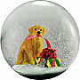 100mm Snow Globe Dog with Gift