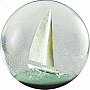 100mm Snow Globe Sailboat