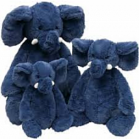 Bashful Blue Elephant Large 14""