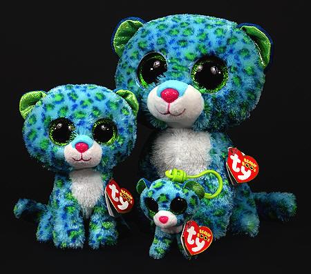 a9884a2e212 Beanie Boo Leona Blue Leopard Small - Stevensons Toys