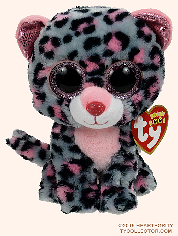 f175ce1b6f8 Beanie Boo Tasha Grey Pink Leopard Small - Stevensons Toys
