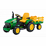 John Deere 12V Ground Force Tractor with Trailer Assembled