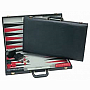 Black Suede backgammon 18""